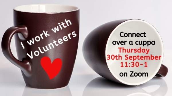 """Featured image for """"Cuppa and chat for Volunteer Managers"""""""