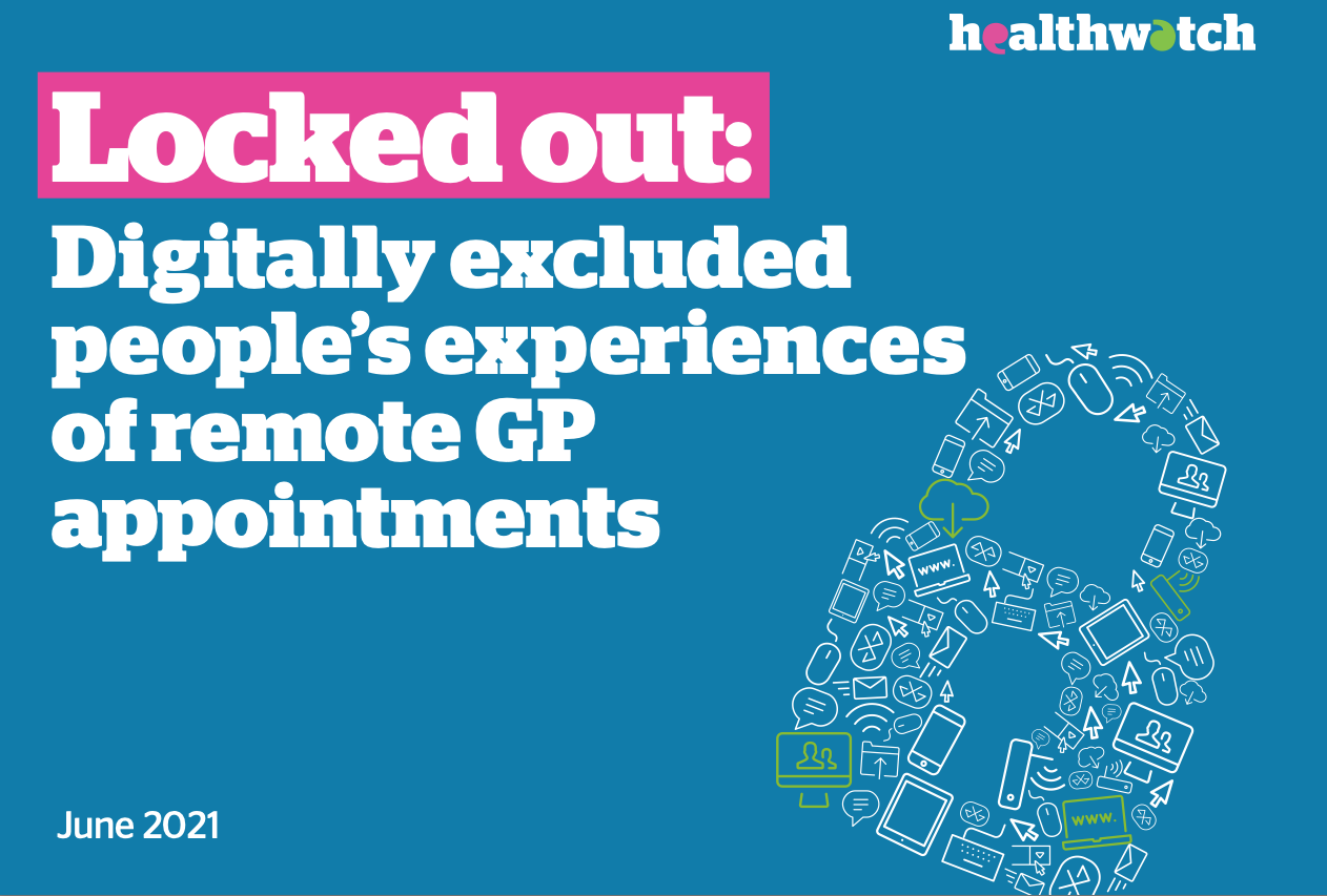 """Featured image for """"June 2021 – Digitally excluded people's experiences of remote GP appointments"""""""