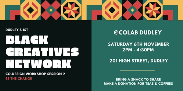 """Featured image for """"Black Creatives Network in Dudley – 6 Nov"""""""