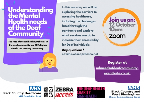 """Featured image for """"Understanding the mental health needs of the deaf community – 12 October 2021"""""""